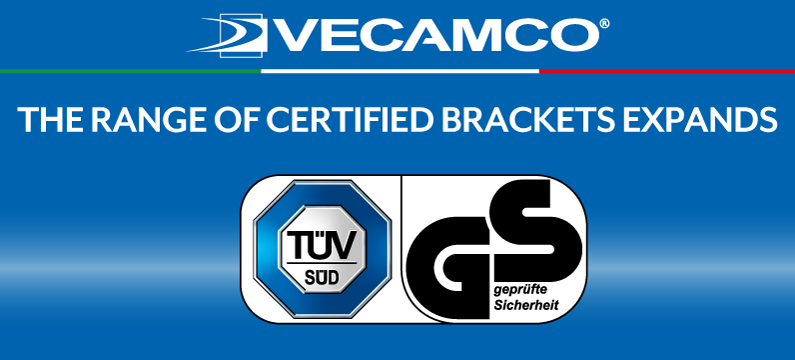 EXTENSION OF THE TÜV GS CERTIFIED BRACKETS RANGE