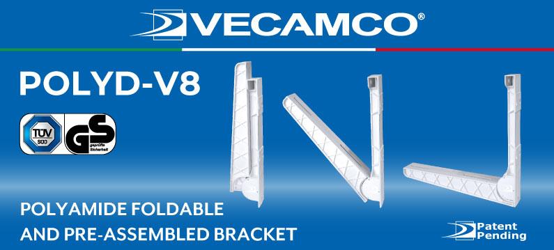 POLYD-V8 Foldable and pre-assembled polyamide bracket