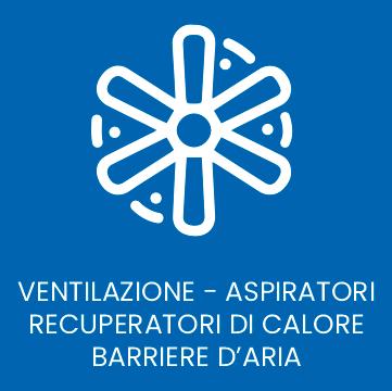 ventilazione - aspiratori - recuperatori di calore - barriere d'aria - logo