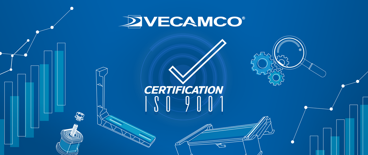 КОМПАНИЯ VECAMCO ПОЛУЧИЛА СЕРТИФИКАТ ISO 9001:2015